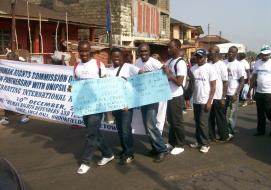 Pride Equality march in Sierra Leone