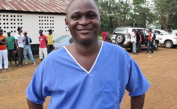 Capt. Dr Komba Songu Mbriwah, promoted to Major. Photo Credit: WFP