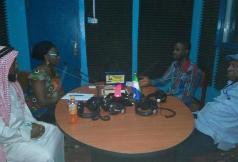 A radio discussion programme in progress