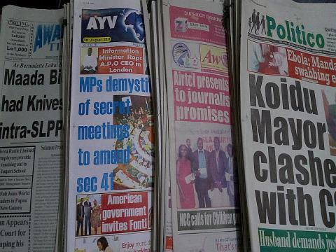 Cross section of the Sierra Leone press